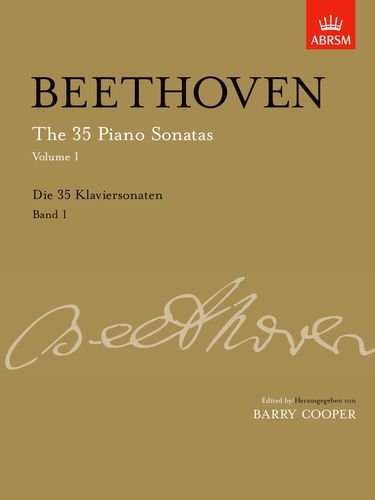 The 35 Piano Sonatas, Volume 1 up to Op. 14: Up to Op. 14 v. 1 (Signature Series (ABRSM)) by Ludwig van Beethoven (Composer), Barry Cooper (Editor) (13-Dec-2007) Sheet music (35 Piano Sonatas)