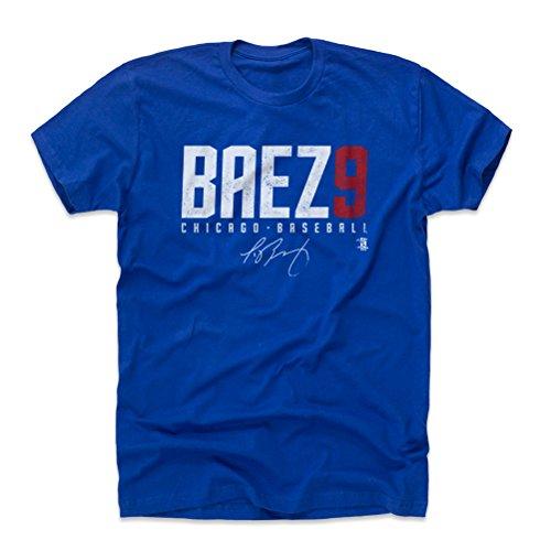 500 LEVEL Javy Baez Cotton Shirt XXX-Large Royal Blue - Chicago Baseball Men's Apparel - Javier Baez Baez9 W WHT (Cubs Shirt Gray Chicago)