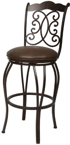 Florentine Swivel (Impacterra Athena Swivel Stool, Autumn Rust/Florentine Coffee, Counter Height)