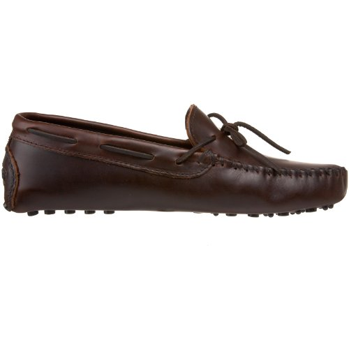 Driving 5 Original Lariat Brown Cowhide Dark Brown Men's Minnetonka US M 10 Moccasin F0TttS