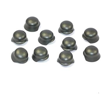 10 Custom Brickarms Soldados CASCOS DE ACERO para Figuras Lego Metal Casco Ww2 Soldado 10-