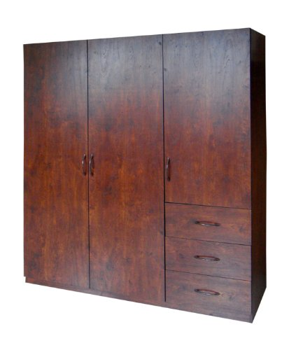 home-source-industries-9129-wardrobe-with-space-for-hanging-drawer-and-shelves-walnut