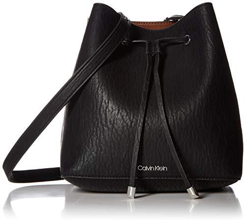 Calvin Klein Sonoma Bubble Lamb Novelty Drawstring Hobo, black/silver Calvin Klein Hobo Bag