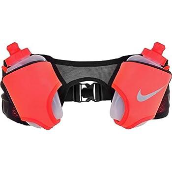 Nike Unisex Running Double Flask Hydration Adjustable Belt Black Total  Crimson Silver 20 oz.