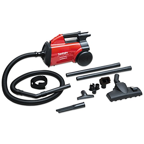 Sanitaire Canister Hepa Vacuums - Sanitaire SC3683B Commercial Compact Canister Vacuum, 10lb, Red