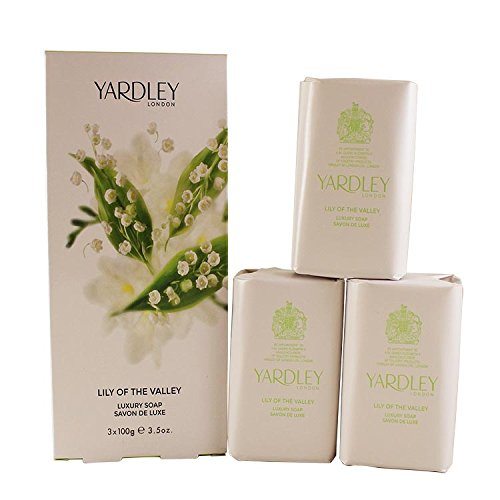 Lily of the Valley by Yardley of London for Women Luxury Soap 3.5 Ounce - 3 Bars per Box (London Lily)
