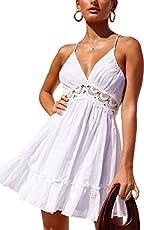 638e720479 ECOWISH Womens Dresses V Neck Spaghetti Strap Backles…  20.99 20.99.  Bestseller
