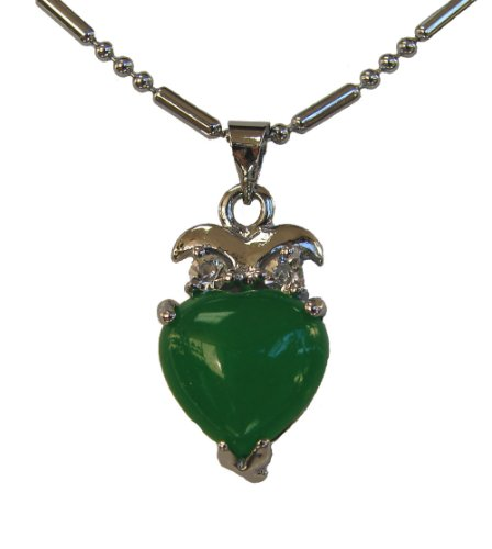 Heart-Shaped Jade Pendant-without chain