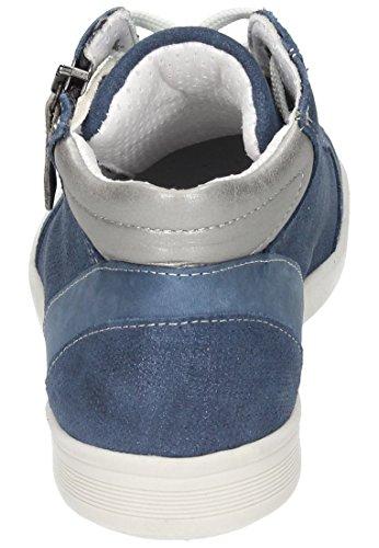 Comfortabel Damen Boots in Blau Blau