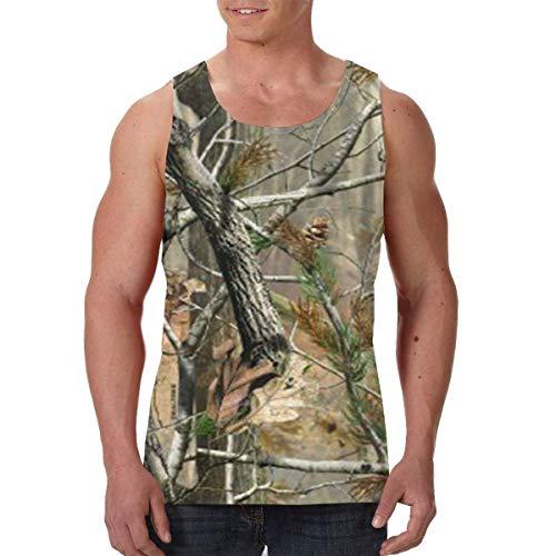 (YLJIA Woodland Camouflage Hunting Men's Gym Tanks Sleeveless Tank Tops Shirts)