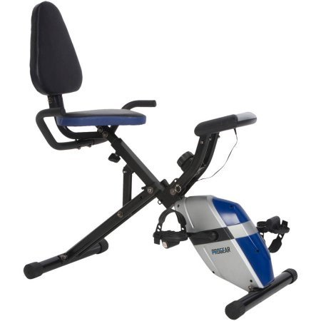 ProGear Steel construction 190 Folding Recumbent Exercise Bike with Heart pulse and speed NEW SupremeSaver