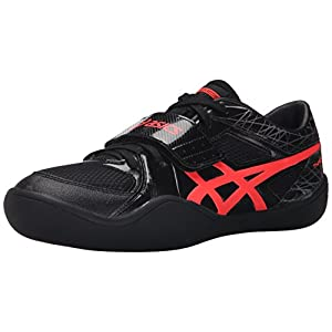 ASICS Men's Throw Pro Track Shoe, Black/Flash Coral, 15 M US