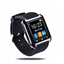 2015 New Bluetooth Smart Watch Phone WristWatch Smart watch android Digital Watches Wearable Devices (U80 Black)
