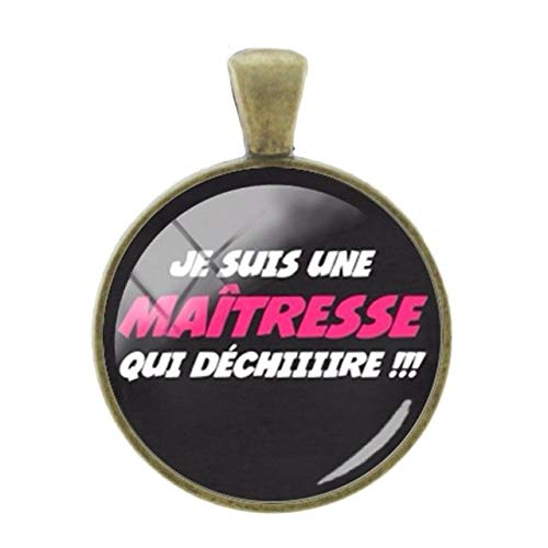 (Pendants -1Pc French Letters Words Pendants Teachers Mother Gift Charms 25Mm Glass Dome Fashion Classic Bronze Plated Jewelry- Ct275)