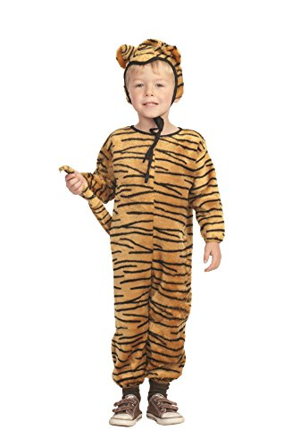 Child Toddler 2-4T - Brown/Black ECONOMY Tiger Costume (gloves and shoes not included)