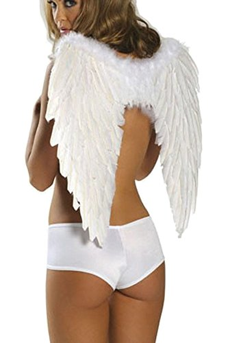[Women's Sexy Uniforms Temptation Cosplay Halloween Costume of Schoolgirl Angle Wings] (Parrot Costume Wings)