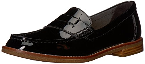 SPERRY Women's Seaport Penny Loafer, Black Patent, 5.5