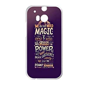 Power Lies In Imagination HTC One M8 Cell Phone Case White Protect your phone BVS_756062