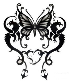 d45e76c25 Amazon.com : Totem Black Butterfly Limited Edition Tattoo Stickers  Temporary Tattoos Paste Neck \ Shoulder \ Chest \ Hand \, Etc. Fashion  Models Single ...
