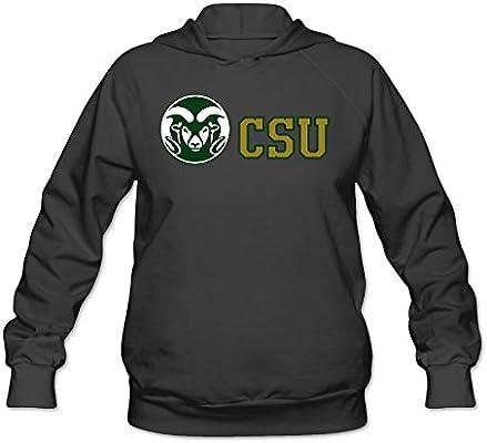 CYANY Colorado Estado Universidad CSU RAMS Divertidos de Sudaderas con Capucha Sudadera Mujer Negro