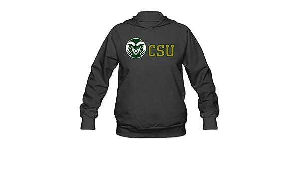 CYANY Colorado Estado Universidad CSU RAMS Divertidos de Sudaderas con Capucha Sudadera Mujer Negro: Amazon.es: Libros