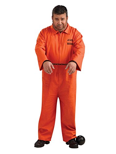 Orange Prisoner Jumpsuit Plus Size Adult Costume - Plus Size]()