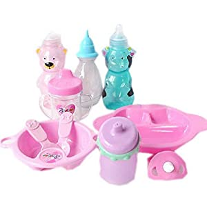 Baby Doll Accessories Pacifier Bowl Milk Bottle Mug Spoons ...