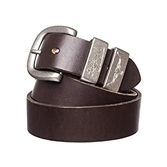 "R. M. Williams 1 1/2"" 3 Piece Solid Hide Belt, (30, Chestnut)"