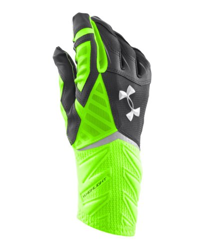 New Under Armour UA Highlight Football Gloves Adult M White Black MSRP 54.99