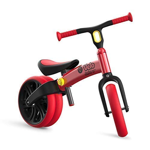 Yvolution Y Velo Junior | No-Pedal Balance Bike for Kids (Red (New))