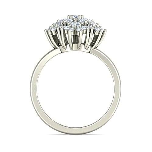 18 K Or Blanc, 0,81 carat Diamant Taille ronde (IJ | SI) Cocktail en diamant