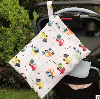 LAAT Baby-Windeltasche Baby Windel Aufbewahrungstasche tragbare Windel-Aufbewahrungstasche Rei/ßverschlu/ß Wasserdichte wiederverwendbarer