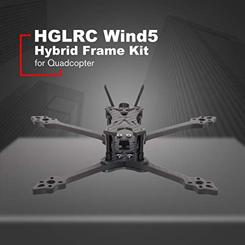 HGLRC Wind 5 Hybrid FPV Racing Drone Frame Kit for 5'' Propellers Quadcopter by Wikiwand (Image #2)