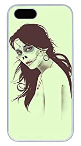 iPhone 5 5S Case Cool Skull Girl Funny Lovely Best Cool Customize iPhone 5S Cover White