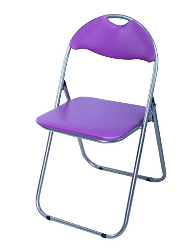 AHOC® Purple Folding Chair With Padded Seat Office Reception Foldable Desk  Chairs Easy Storage Backrest