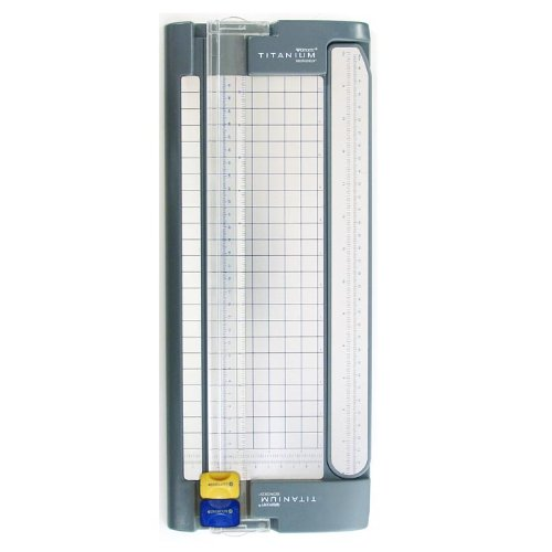 Westcott Paper Trimmer With Titanium Bonded Cut And Score Blades, 12'' by Westcott