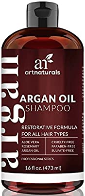 Cheapest Art Naturals Organic Daily Argan Oil Shampoo 16 oz, Best Moisturizing, Volumizing Sulfate Free Shampoo for Women, Men & Teens - Used for Dry, Damaged, Colored For All Hair Types - Anti Aging Hair Care from Art Naturals - Free Shipping Available