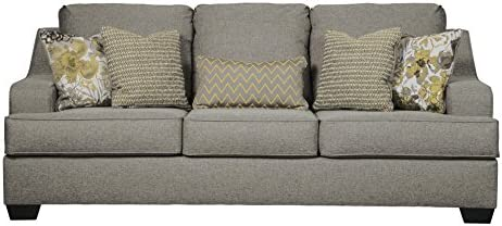 Miraculous Benchcraft Mandee Contemporary Sofa Sleeper Queen Size Mattress Included Pewter Cjindustries Chair Design For Home Cjindustriesco