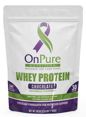 OnPure Chocolate Whey Protein Powder, NO Sugar, HIGH Protein: 26 Grams of GMO-Free, NO Soy, NO Artificial Flavors. Gluten Free, Keto Friendly, Low CARB. 30 Servings