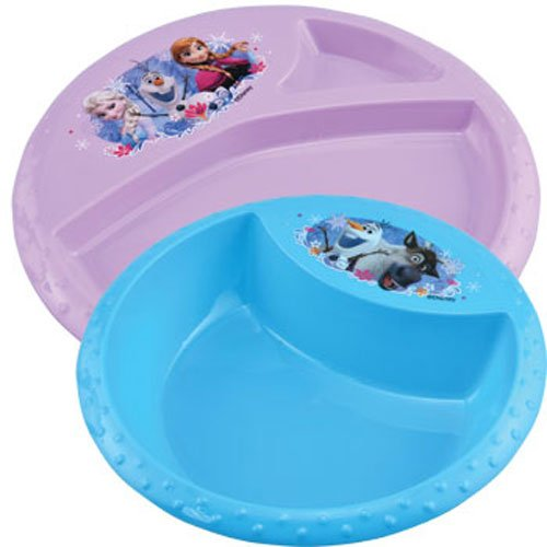 Disney Frozen Meal Time Dinnerware Set! Kids Plastic Bowl and Plate!