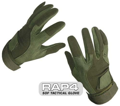 RAP4 OLIVE DRAB SOF Tactical Glove (Full Finger), L by RAP4