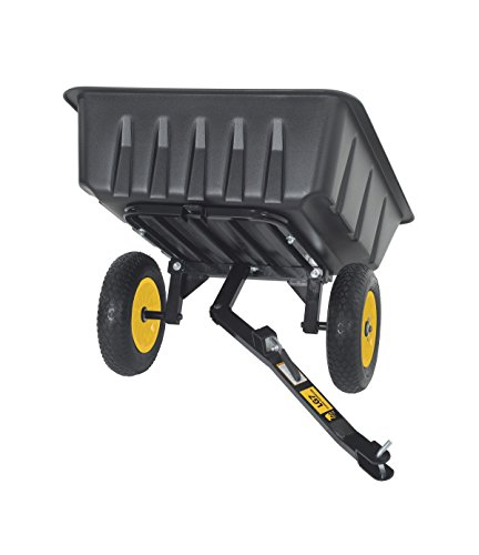 Polar Trailer 9393 LG7 Lawn and Garden Utility Cart, 65 x 31 x 28-Inch 600 Lbs Load Capacity 10 Cubic Feet Tub Quick Release Tipper Latch Tilt-and-Swivel Dumping and Hauling Cart, Black
