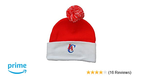 8ae227bce61 Amazon.com   adidas Los Angeles Clippers White Cuff Beanie Hat with Pom - NBA  Knit Cuffed Toque Cap   Sports   Outdoors