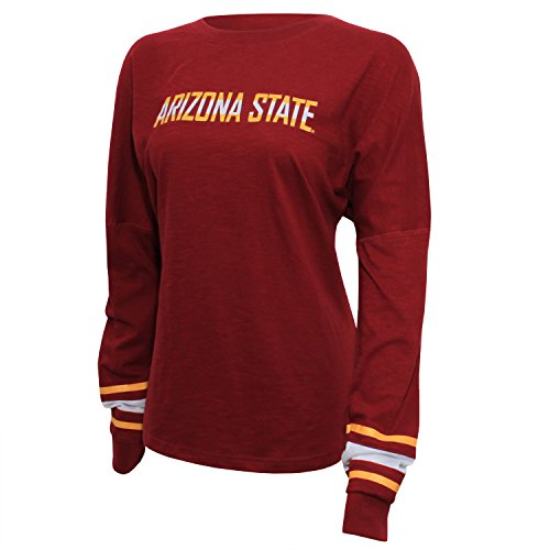 NCAA Arizona State Sun Devils Women's Campus Specialties Long Sleeve Fan Tee, XX-Large, Maroon