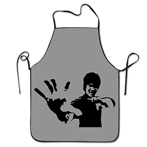 Bruce Lee Black And White Kitchen Aprons For Women Men