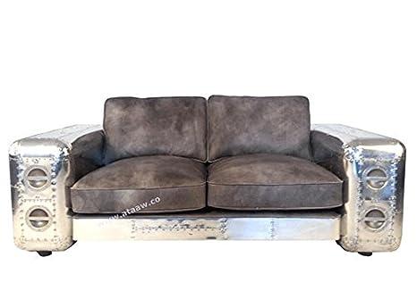 Ashoka Moderno sofá con Piel de Color marrón de Estilo ...