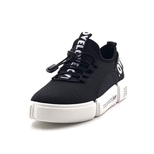 Moda Nero Zeppa Tennis Cm Angkorly Perforato 5 Flessibile Scarpe Sneaker 3 Donna Tacco Street Moderno 5xxw6UBqR