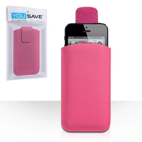 iPhone 5S Tasche Heiß Rosa Qualitativ Lychee Leder Beutel Hülle