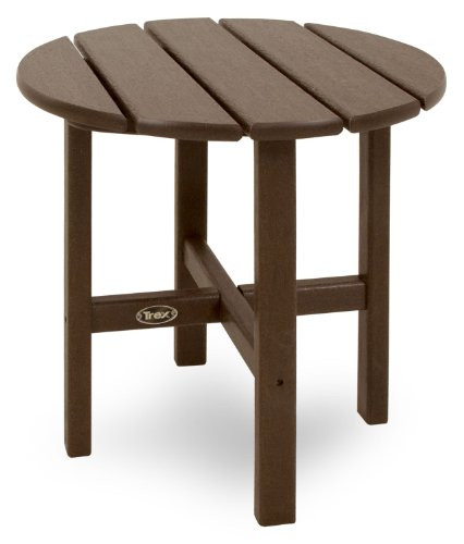Trex Outdoor Furniture Cape Cod Round 18-Inch Side Table, Vintage Lantern