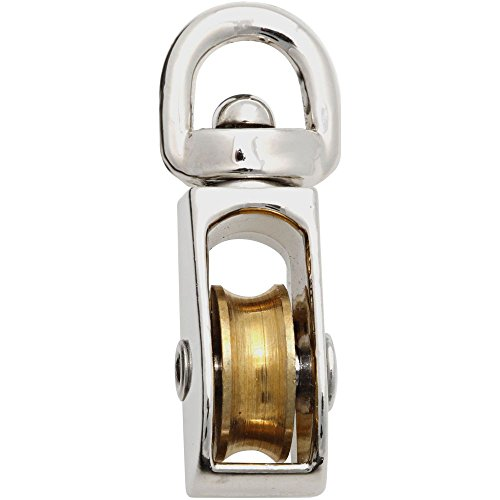 National Hardware N243-568 3201BC Swivel Single Pulley in Nickel